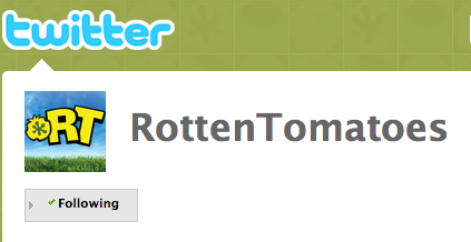 Rotten Tomatoes' Twitter Page